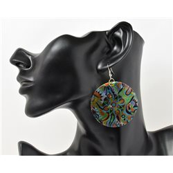 1p Boucles Oreilles en nacre naturelle Collection SHELLY Fashion 69612
