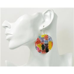 1p Boucles Oreilles en nacre naturelle Collection SHELLY Fashion 69611