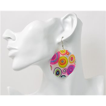 1p Boucles Oreilles en nacre naturelle Collection SHELLY Fashion 69608
